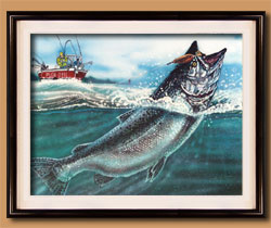 Fish On! Color Art for Sale By Wisconsin Wildlife Artist Jim Tostrud
