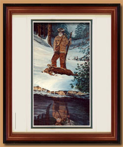 Leo Rue Color Art for Sale By Wisconsin Wildlife Artist Jim Tostrud