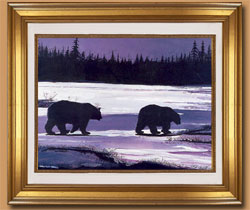 Polar Walk Color Art for Sale By Wisconsin Wildlife Artist Jim Tostrud
