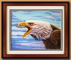 Screamin' Eagle Color Art for Sale By Wisconsin Wildlife Artist Jim Tostrud