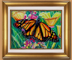 Summer Monarch Color Art for Sale By Wisconsin Wildlife Artist Jim Tostrud