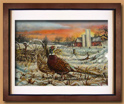 Twilight Stroll Color Art for Sale By Wisconsin Wildlife Artist Jim Tostrud
